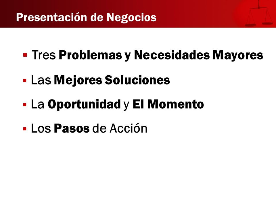 Tres Problemas y Necesidades Mayores