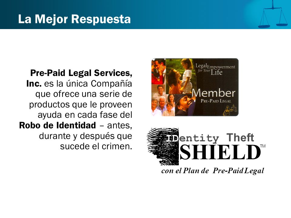 SHIELD La Mejor Respuesta ID entity Theft
