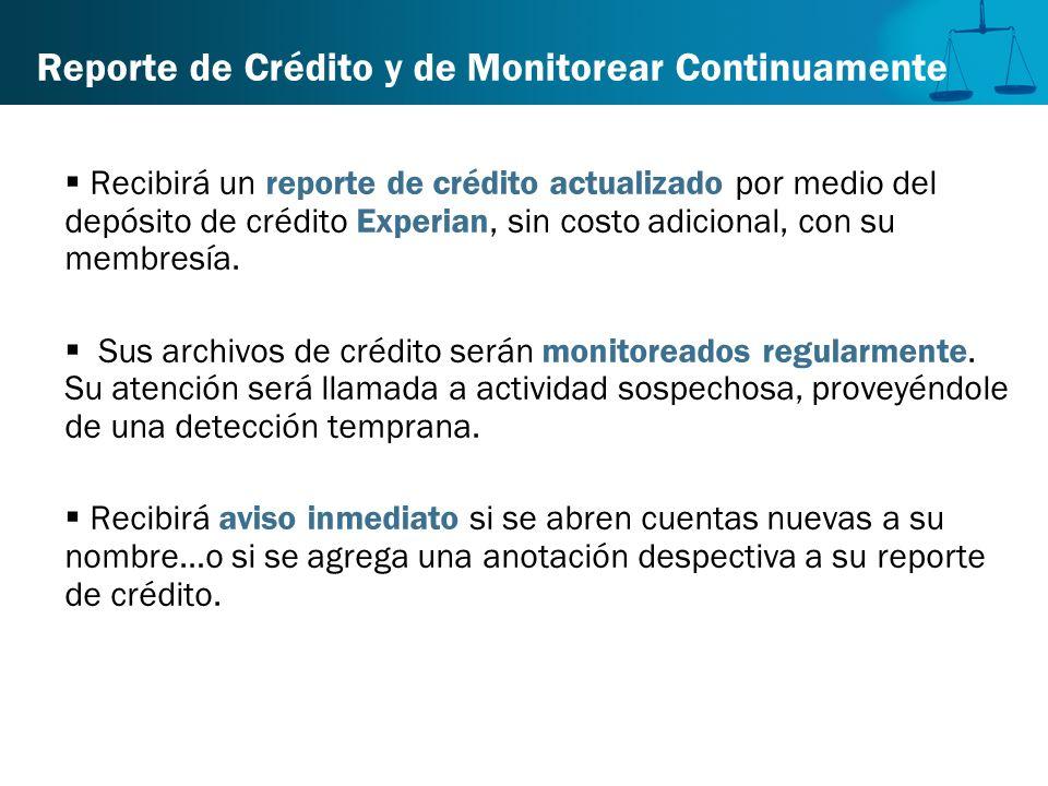 Reporte de Crédito y de Monitorear Continuamente