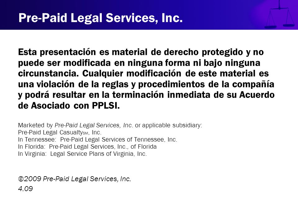 Pre-Paid Legal Services, Inc.