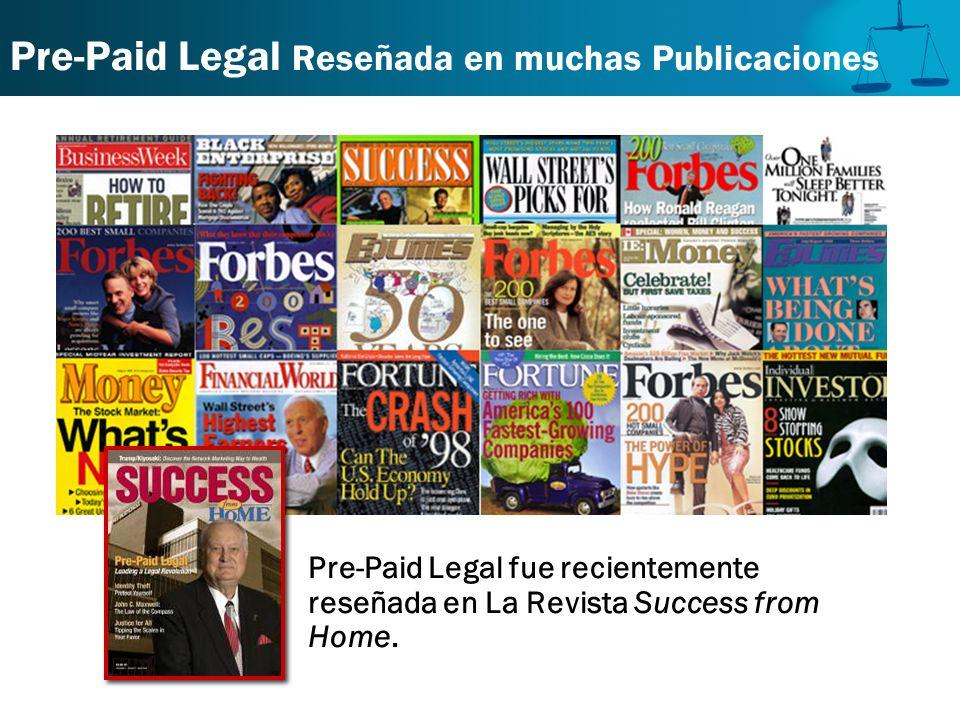 Pre-Paid Legal Reseñada en muchas Publicaciones