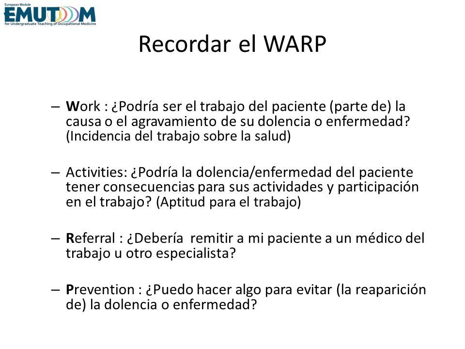 Recordar el WARP