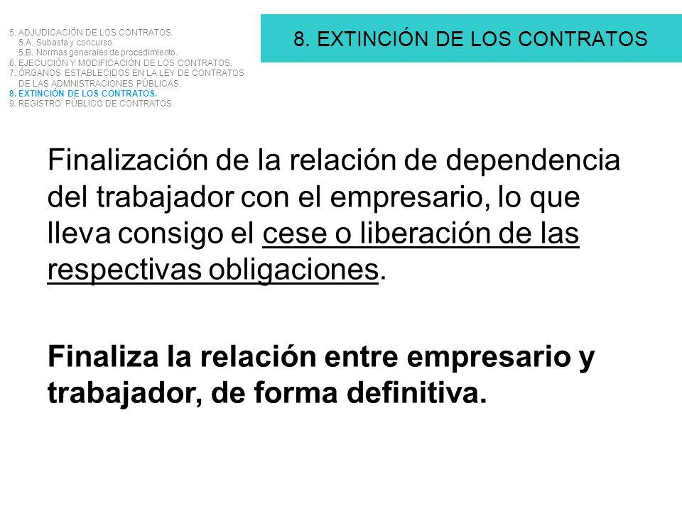 8. EXTINCIÓN DE LOS CONTRATOS
