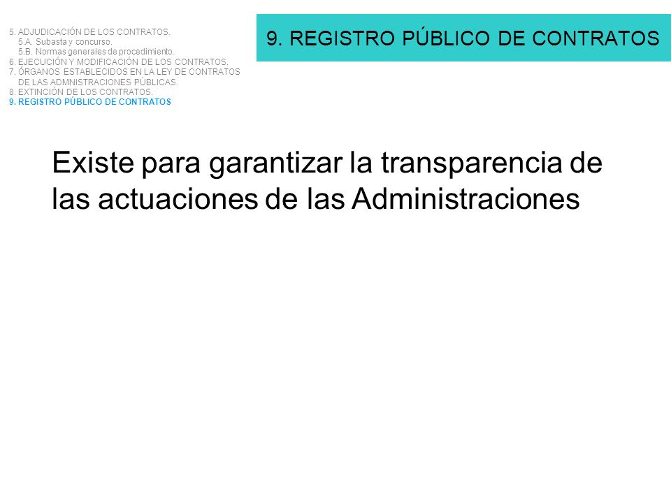 9. REGISTRO PÚBLICO DE CONTRATOS