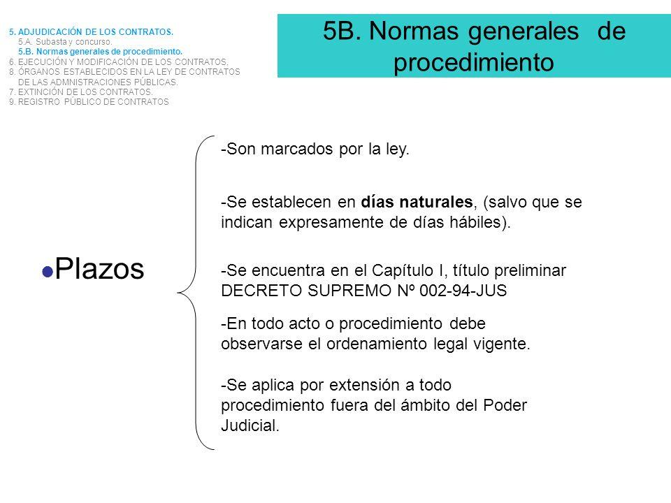 5B. Normas generales de procedimiento