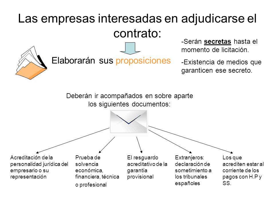Las empresas interesadas en adjudicarse el contrato:
