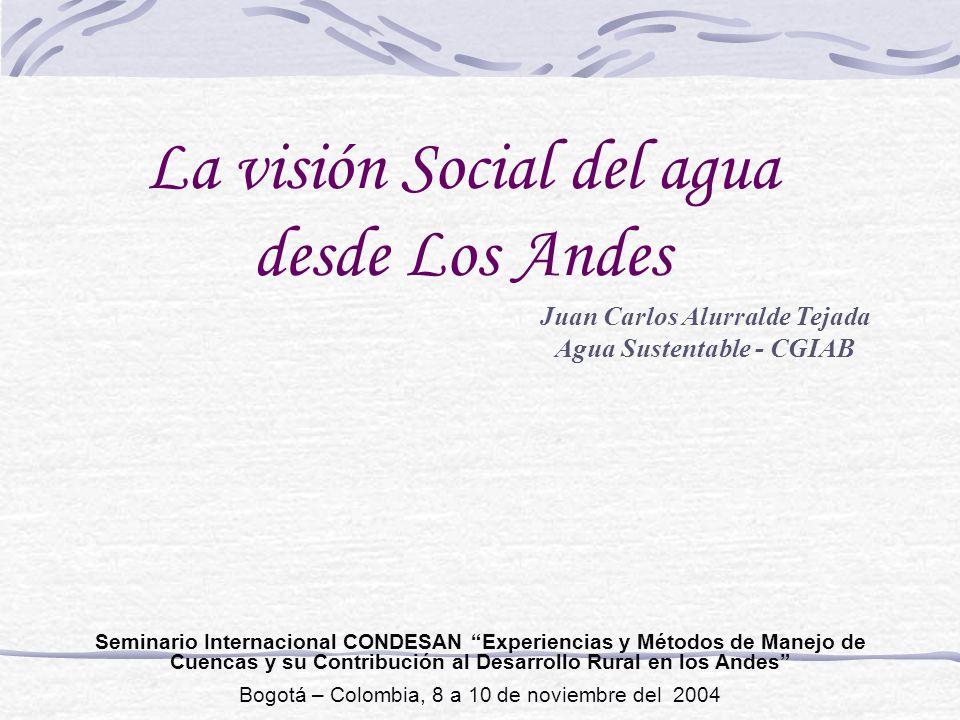 Juan Carlos Alurralde Tejada Agua Sustentable - CGIAB