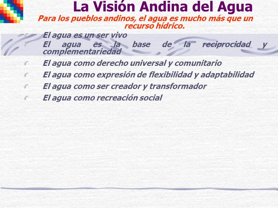 La Visión Andina del Agua