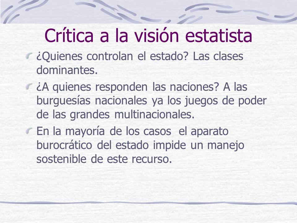 Crítica a la visión estatista