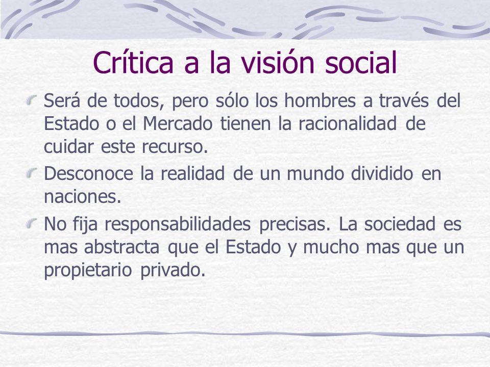 Crítica a la visión social