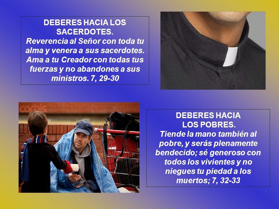 DEBERES HACIA LOS SACERDOTES.