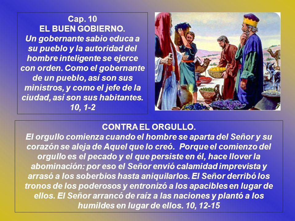 Cap. 10 EL BUEN GOBIERNO.