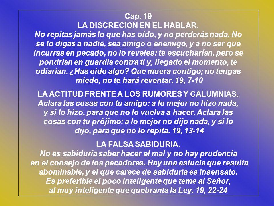 LA DISCRECION EN EL HABLAR.