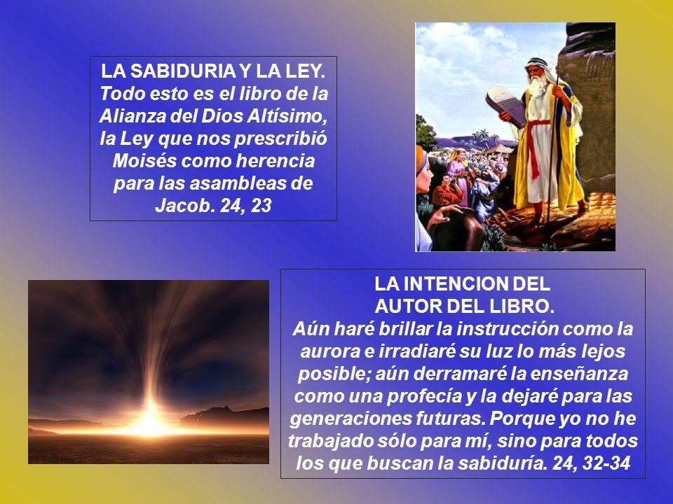 LA SABIDURIA Y LA LEY.