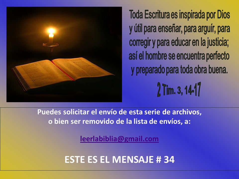 Toda Escritura es inspirada por Dios