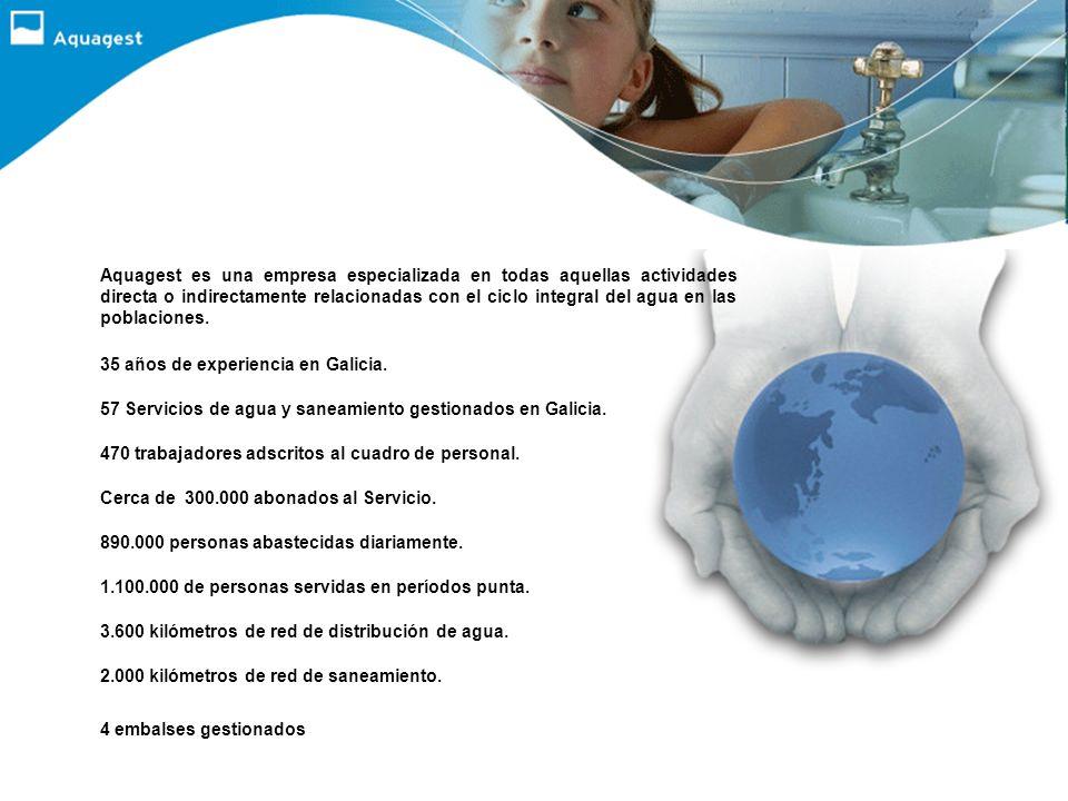 Aquagest es una empresa especializada en todas aquellas actividades directa o indirectamente relacionadas con el ciclo integral del agua en las poblaciones.