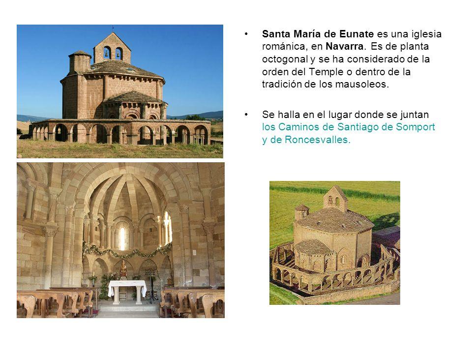 Santa María de Eunate es una iglesia románica, en Navarra