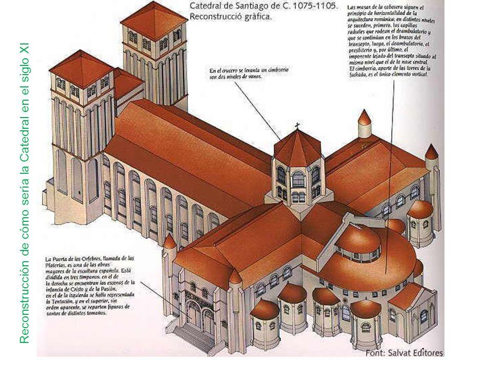 Reconstrucción de cómo sería la Catedral en el siglo XI