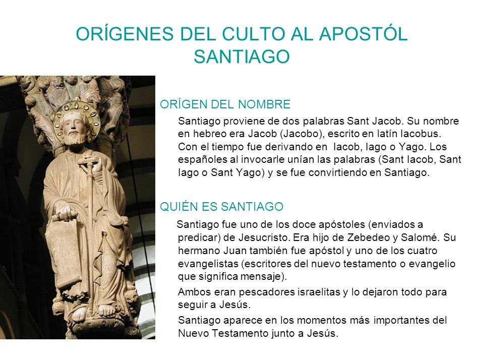 ORÍGENES DEL CULTO AL APOSTÓL SANTIAGO