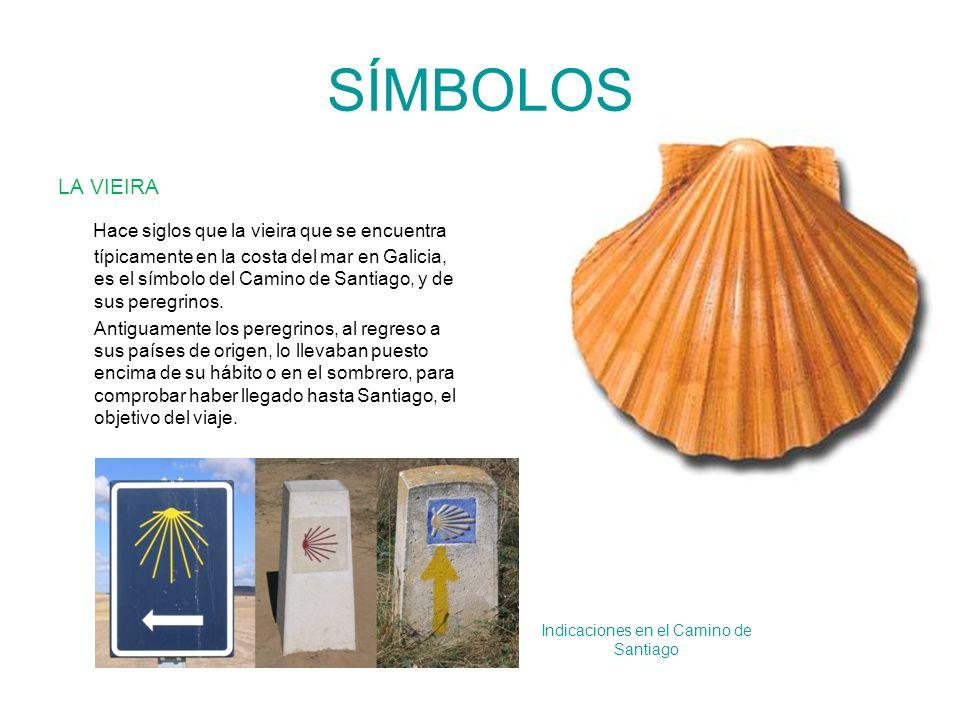 Indicaciones en el Camino de Santiago