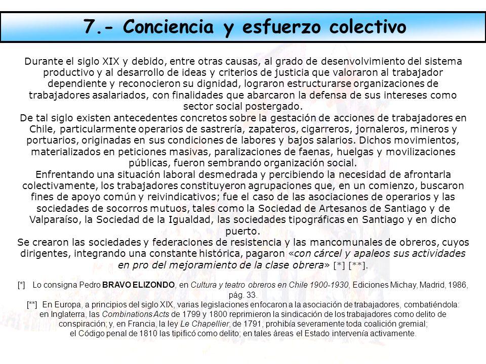 7.- Conciencia y esfuerzo colectivo