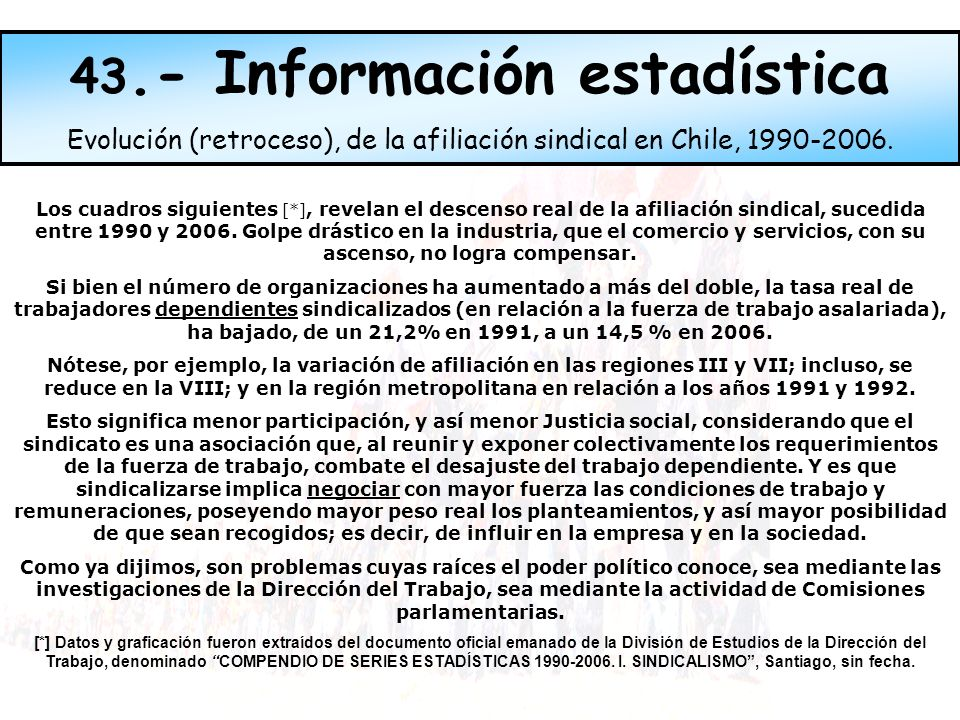 43.- Información estadística