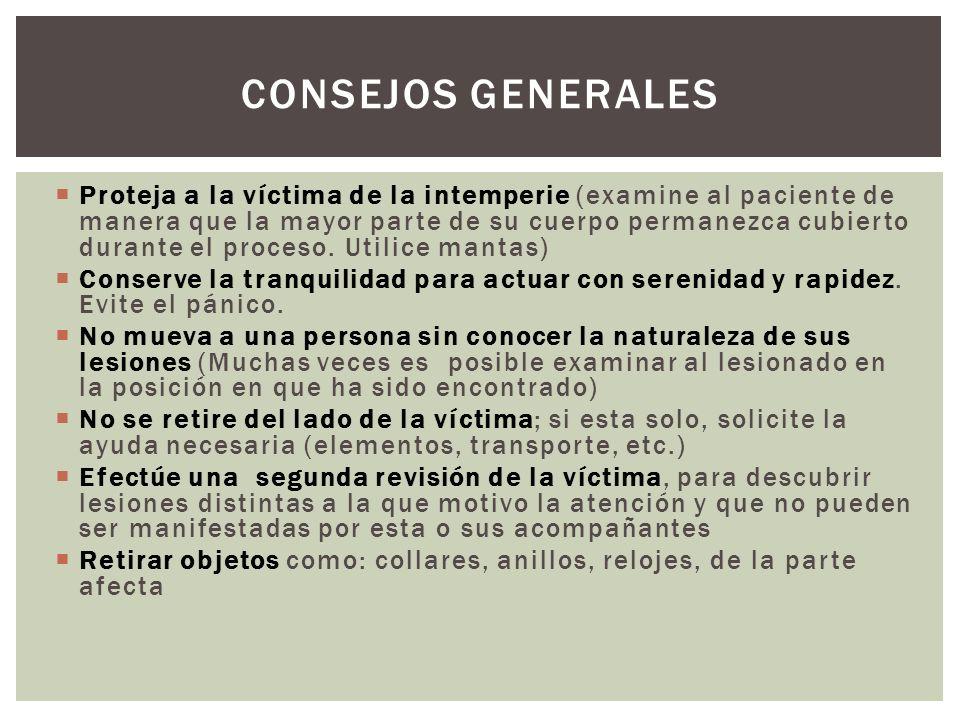 CONSEJOS GENERALES