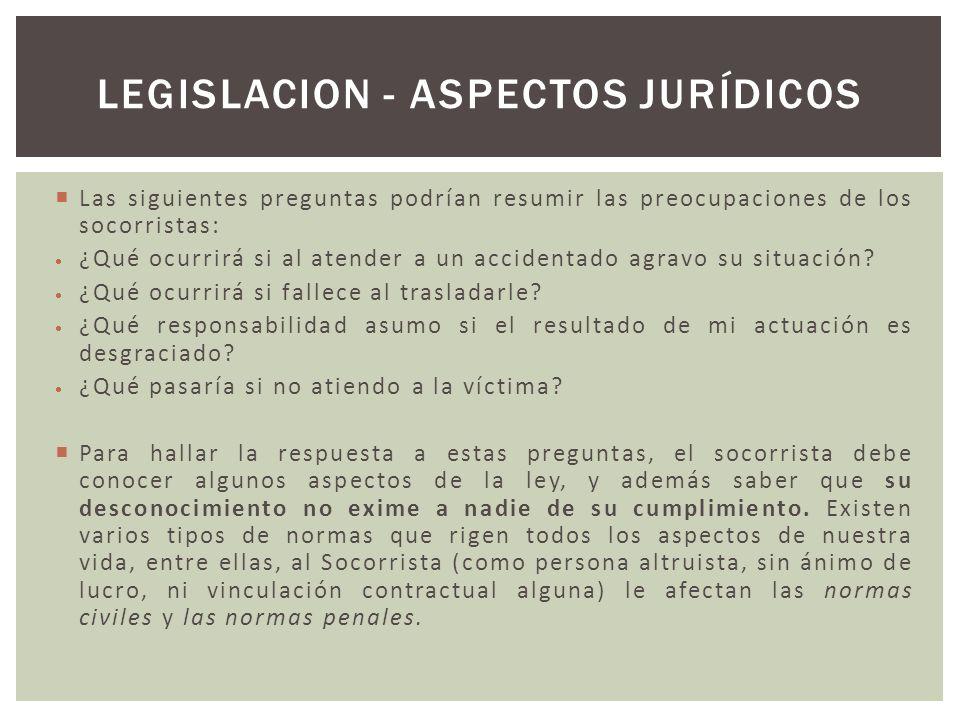 LEGISLACION - Aspectos jurídicos
