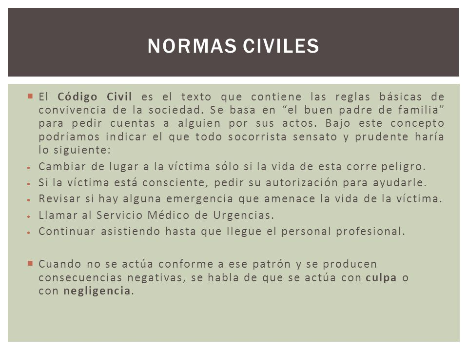 Normas civiles
