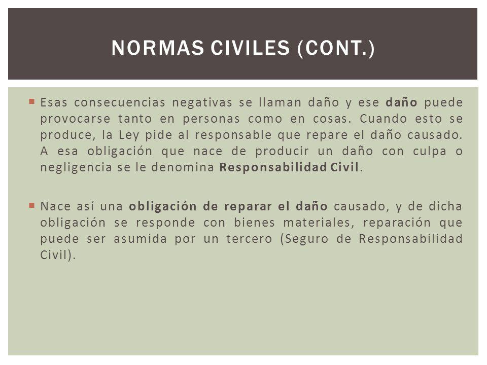Normas civiles (cont.)