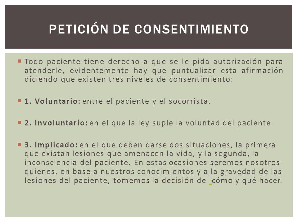 PETICIÓN DE CONSENTIMIENTO