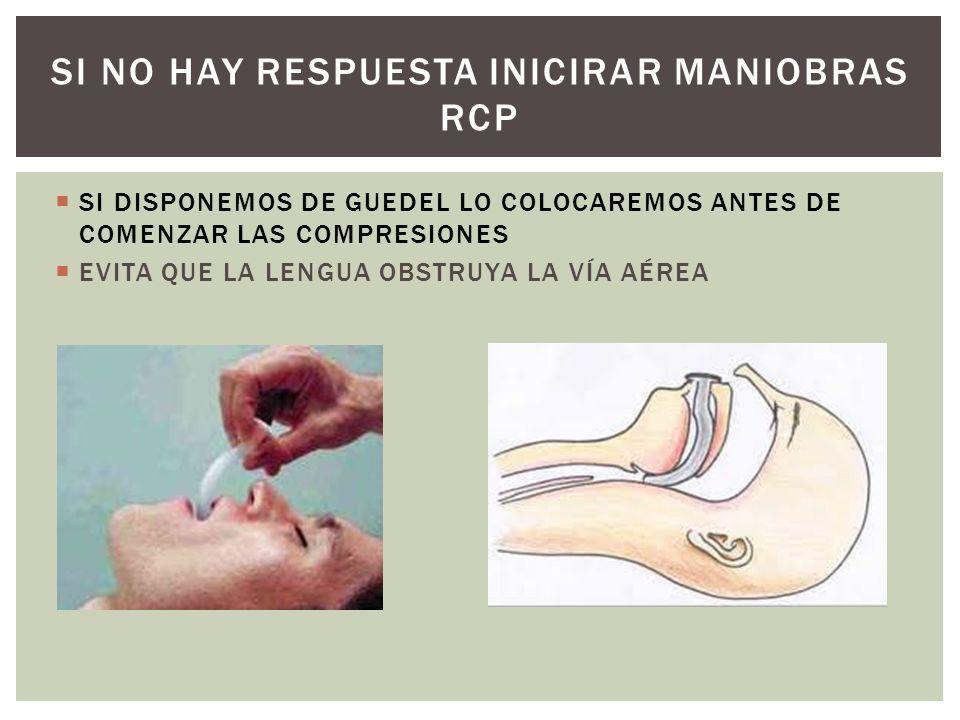 SI NO HAY RESPUESTA INICIRAR MANIOBRAS RCP