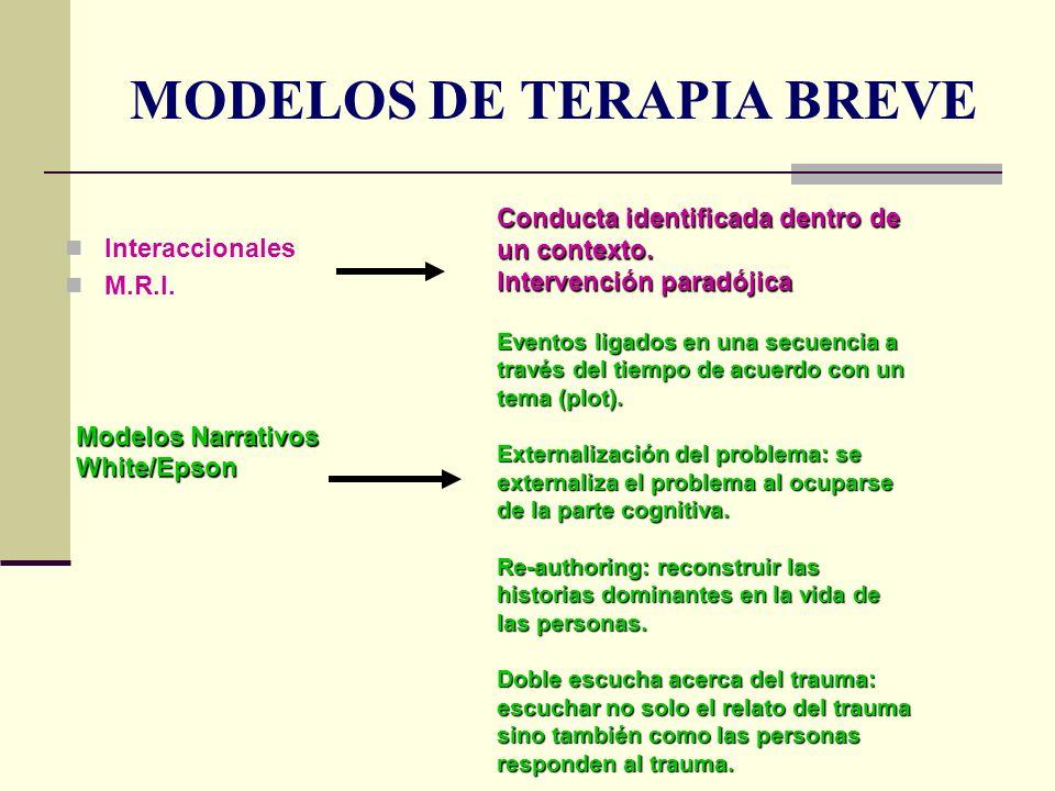 MODELOS DE TERAPIA BREVE