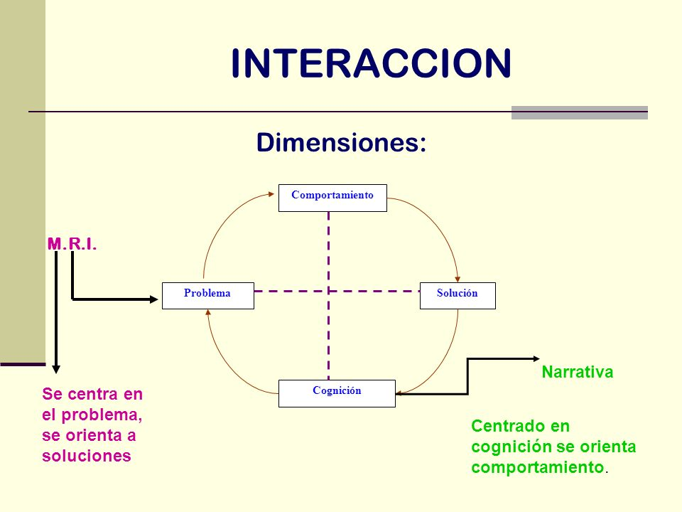 INTERACCION Dimensiones: M.R.I. Narrativa