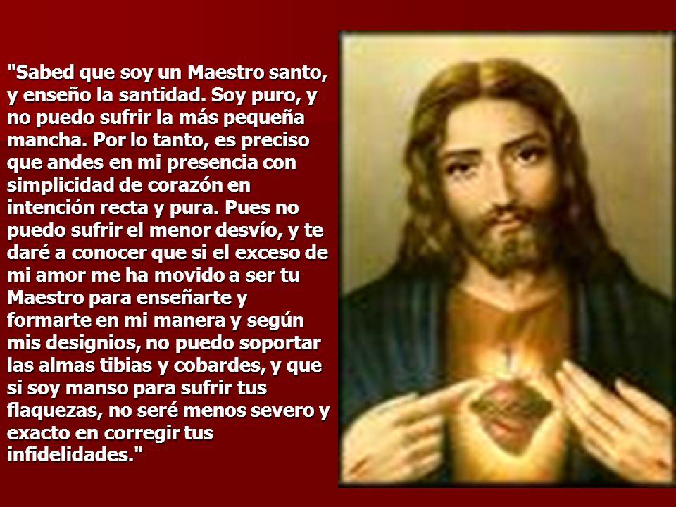 Sabed que soy un Maestro santo, y enseño la santidad