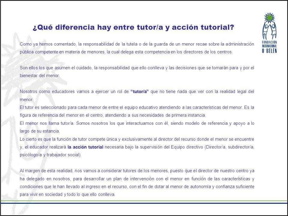 ¿Qué diferencia hay entre tutor/a y acción tutorial