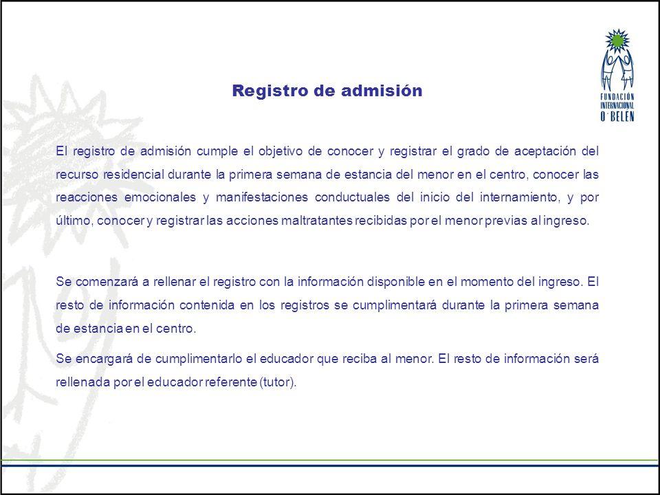 Registro de admisión