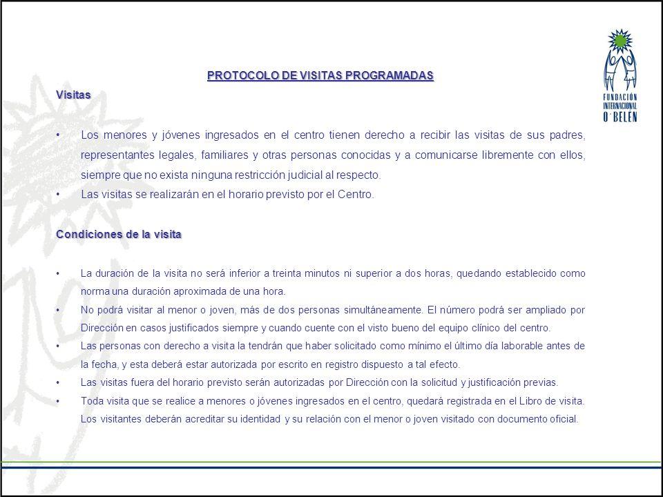 PROTOCOLO DE VISITAS PROGRAMADAS