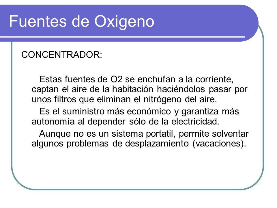 Fuentes de Oxigeno CONCENTRADOR: