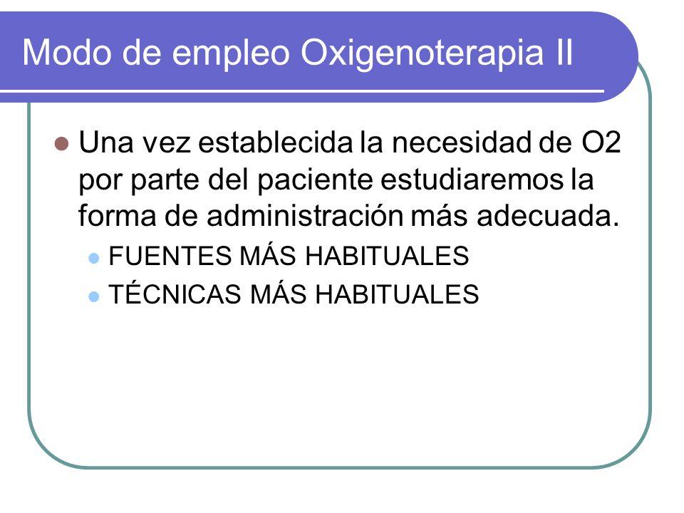 Modo de empleo Oxigenoterapia II