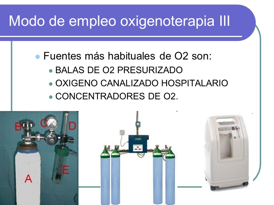 Modo de empleo oxigenoterapia III