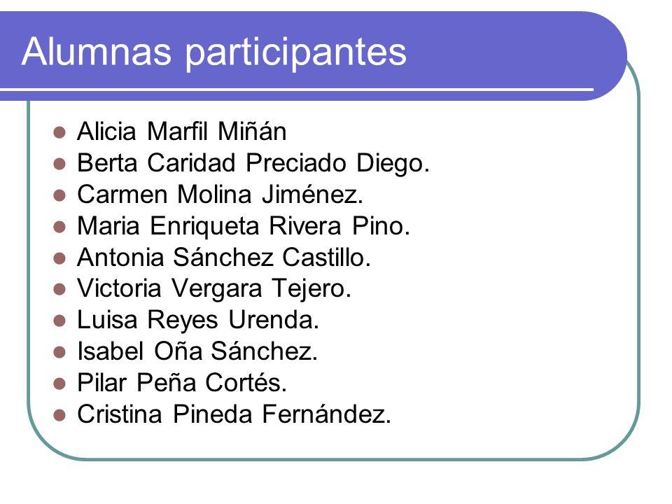 Alumnas participantes