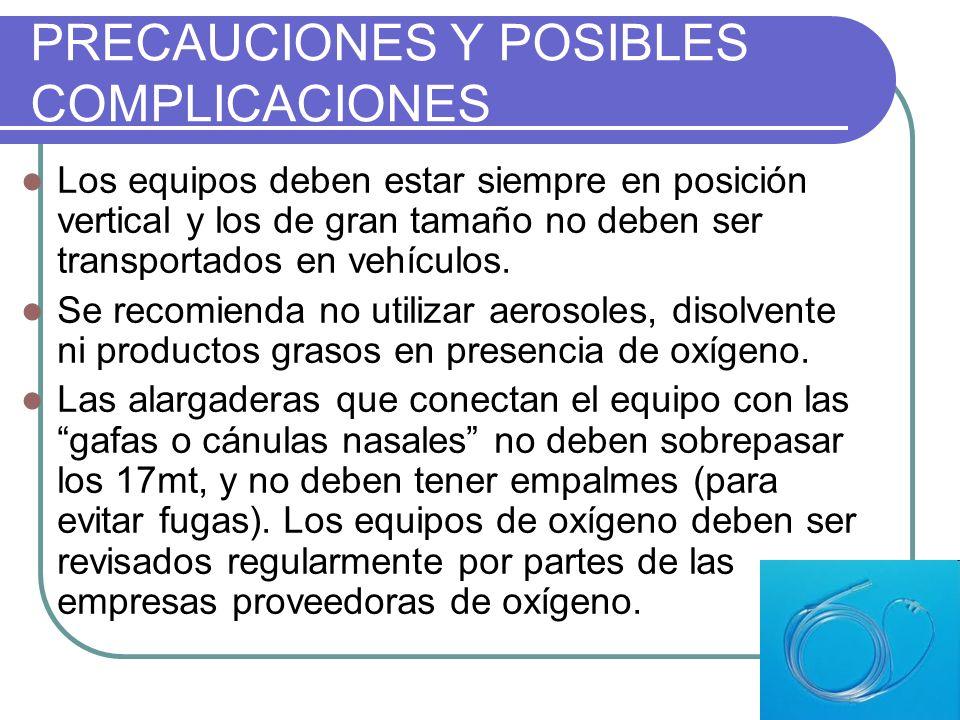 PRECAUCIONES Y POSIBLES COMPLICACIONES