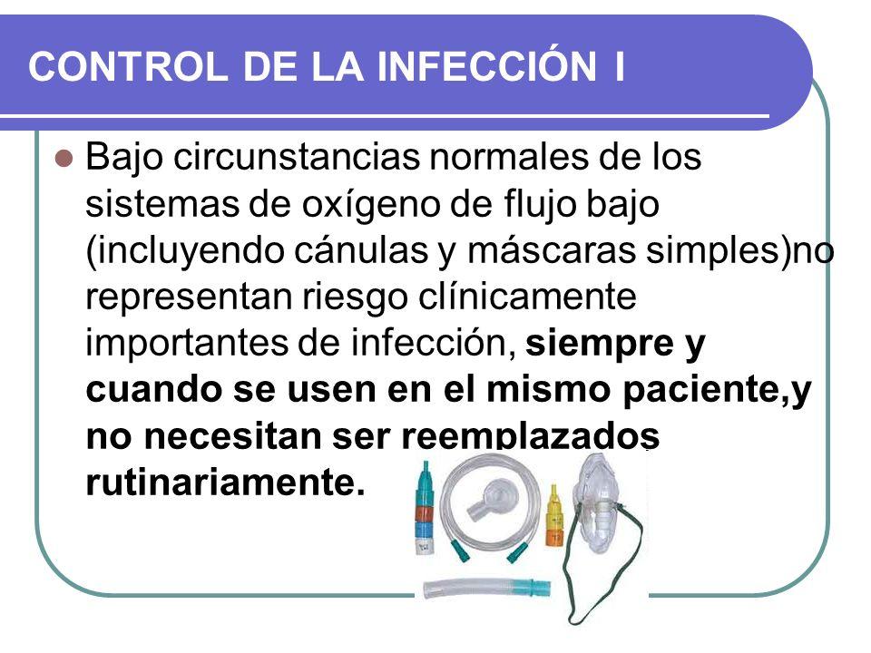 CONTROL DE LA INFECCIÓN I