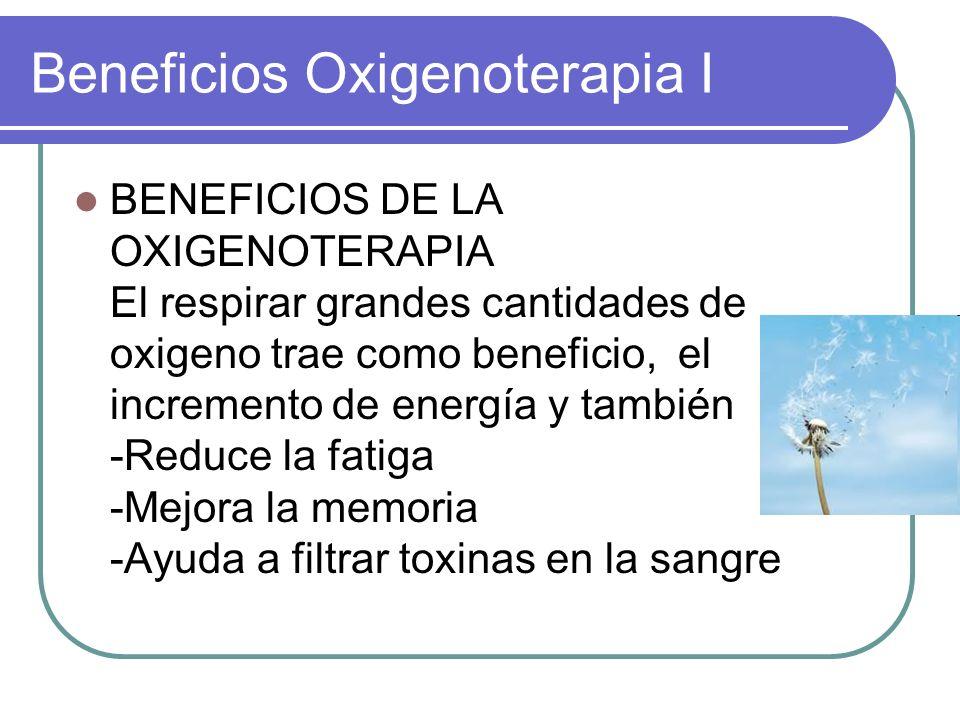 Beneficios Oxigenoterapia I