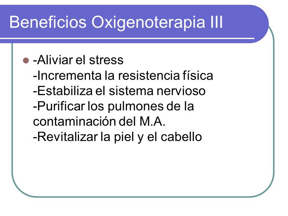 Beneficios Oxigenoterapia III