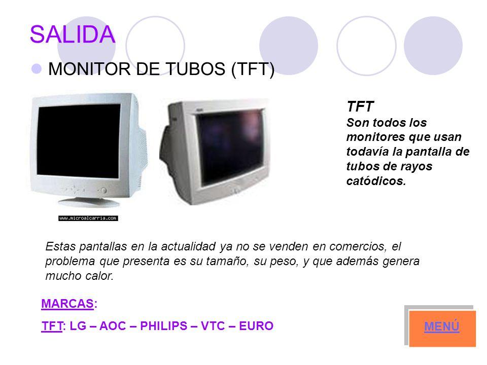 SALIDA MONITOR DE TUBOS (TFT) TFT