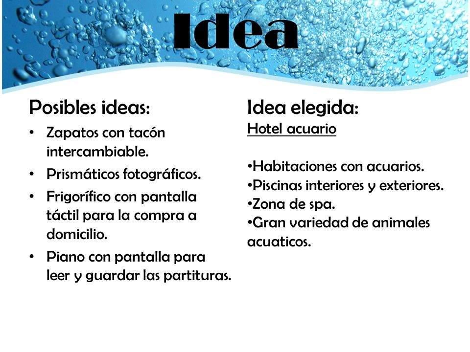 Idea Posibles ideas: Idea elegida: Zapatos con tacón intercambiable.