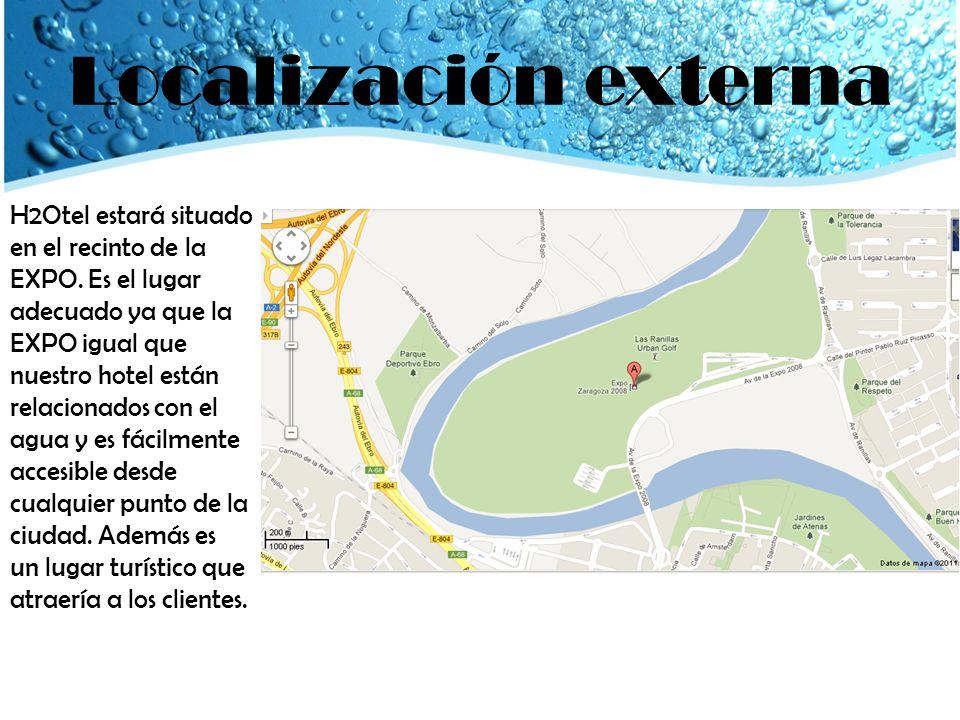 Localización externa H2Otel estará situado en el recinto de la