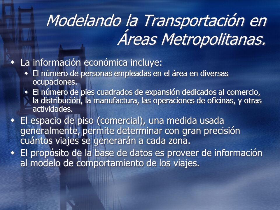 Modelando la Transportación en Áreas Metropolitanas.